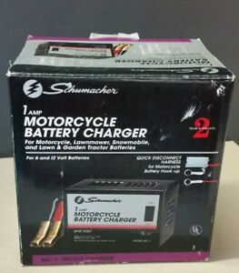 Schumacher Motorcycle Battery Charger 6 To 12 Volt 1 Amp Charging