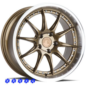 Aodhan Ds07 Bronze Deep Lip Wheels 18x8 5 9 5 30 Rims 5x114 3 Fit Nissan 350z