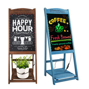4 Modes 7 Colors Led Flashing Menu Sign Message Writing Drawing Board W Remote