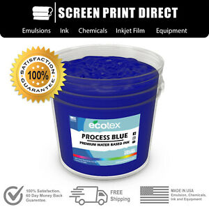 Ecotex Process Blue Water Based Ready To Use Discharge Ink Screen Printing Gal