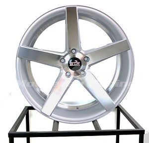 20x9 5x114 3 Str 607 Silver Machine Face Honda Dodge Toyota Chevy