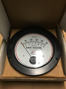 Dwyer Flow Meter Rmv11 14 A06w Air 0 50 Scfm