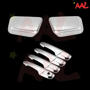 Aal For 2007 08 09 2010 Edge Top Chrome Mirror Cover 4 Door Handle Cover
