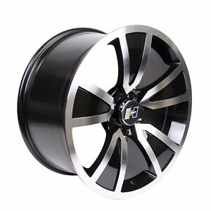 Hurst Shaker Black Or Gold Accent Clear Coat Wheel With Mirror Machined Face