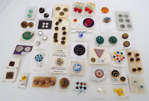 Antique Button Collection 81 Piece Lot From Collector S Estate Glass Metal Sets