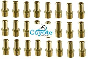 25 Brass Fittings 5 8 Id Hose Barb Bead X 1 2 Male Mnpt Thread Qty Coyote Gear