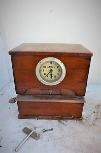 Vintage Clock Rare Mechanical Clocking In Clock For Work