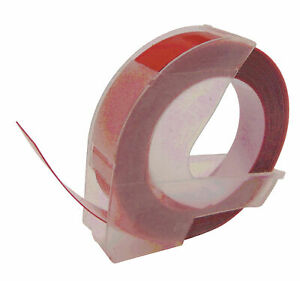 Compatible For Dymo Red Embossing Label Tape A0898150