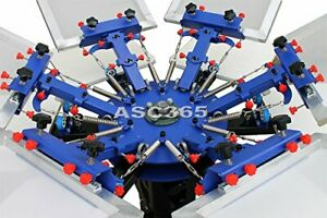 6 Color 6 Station Screen Printing Machine Screen Press Equipment