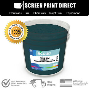 Ecotex Green Water Based Ready To Use Discharge Ink Gal 128oz