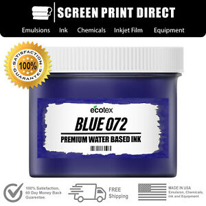 Ecotex Blue 072 Water Based Ready To Use Discharge Ink Screen Printing Gallon