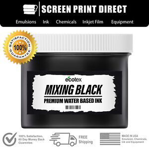 Ecotex Mixing Black Water Based Ready To Use Discharge Ink Screen Printing Gal