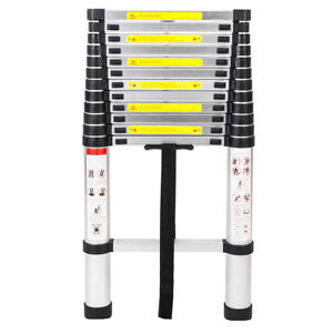 Multi function 12 5ft Aluminum Telescoping Telescopic Extension Ladder Tall