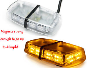 Amber 36 Led Strobe Lights Bar Roof Top Security System Emergency Hazard Flash