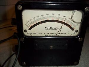 Vintage Weston Electrical Instrument Corp Ac Voltmeter