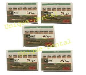 5 X Diadent Gutta Percha Gp Points 4 Size 35 Iso Color Coded Box Of 60