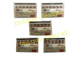 5 X Diadent Gutta Percha Gp Points 4 Size 40 Iso Color Coded Box Of 60