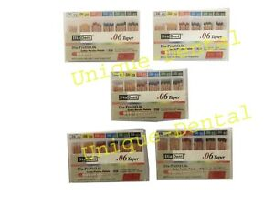 5 X Diadent Gutta Percha Gp Points 6 Size 15 40 Iso Color Coded Box Of 60