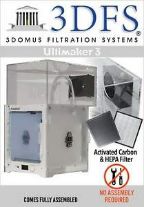 3dfs Ultimaker 3 Safety Enclosure Kit Incl Activated Carbon And Hepa Filtrati