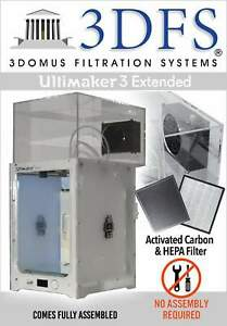 3dfs Ultimaker 3 Extended Safety Enclosure Kit Incl Activated Carbon And Hepa