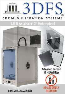 3dfs Ultimaker 2 Extended Safety Enclosure Kit Incl Activated Carbon And Hepa
