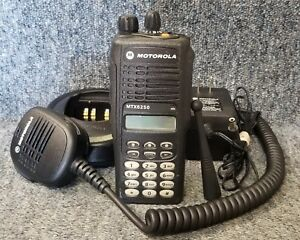 Motorola Mtx8250 Radio 800 Privacy Plus Aah25uch6gb6an Very Good W impres