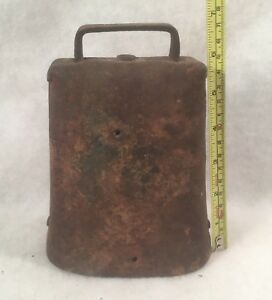 Vintage Antique Primitive Hand Forged Large Cow Bell