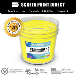 Ecotex Fluorescent Lightning Yellow Water Based Ready To Use Discharge Ink gal