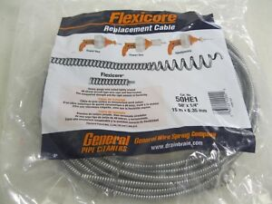 New General Pipe Drain Cleaner Cable 50 Feet wire sewer Line snake made In Usa