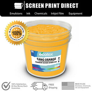 Ecotex Fluorescent Tang Orange Water Based Ready To Use Discharge Ink Gallon