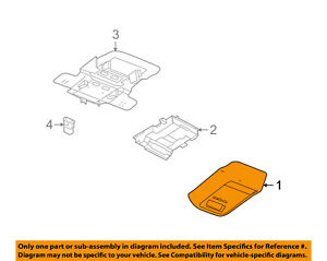 Ford Oem 06 08 Crown Victoria Overhead Roof Console 6w7z54519a70bab