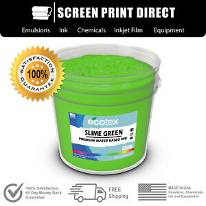 Ecotex Fluorescent Slime Green Water Based Ready To Use Discharge Ink Gallon