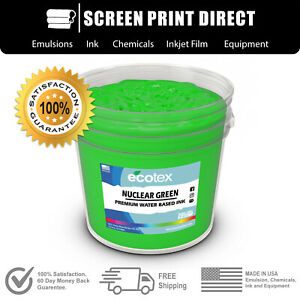Ecotex Fluorescent Nuclear Green Water Based Ready To Use Discharge Ink Quart