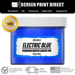 Ecotex Fluorescent Electric Blue Water Based Ready To Use Discharge Ink Quart