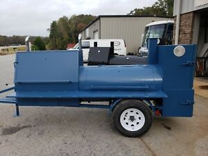 Powder Coated Pick Colors Bbq Smoker Grill Trailer Catering Business Food Truck