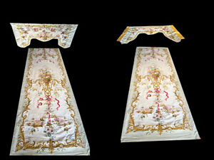 Antique 4 Pieces Of Door Frame Panel French Tapestry Aunusson