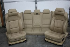Bmw E60 M5 Front Rear Leather Heated M Sport Comfort 16 Way Adjustable Seats Tan