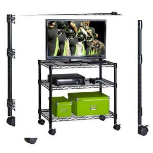 Honey can do 3 shelf Portable Multimedia Cart Black