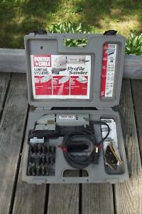 Porter Cable Profile Sander Model 444 with Attachments & Case Made In the U.S.A.