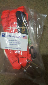 Web Devices 6 Feet Shock Absorbing Web Lanyard W Rebar Hooks Orange