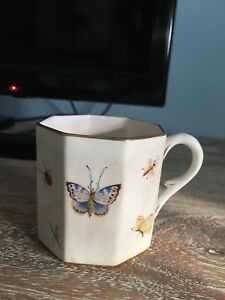 Antique Childs Tea Cup Hand Painted Bugs And Butterflies Crown Derby
