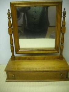 Ethan Allen Early American Maple Birch Chest Top Men S Shaving Mirror