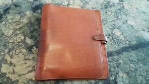Filofax Deskfax Director 5 4 super Rare Vintage Luxe Italian Calf Leather
