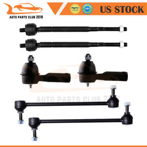 Fits For 1999 2001 Honda Odyssey Outer Inner Tie Rod Ends Sway Bar End 6pair