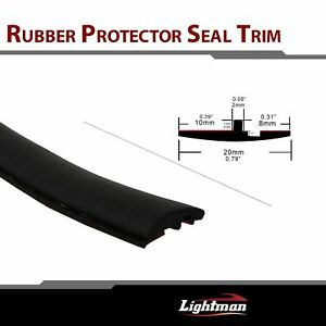 Auto Rubber Seal Strip Trim Car Triangular Windshield Sunroof Weatherstrip 24ft