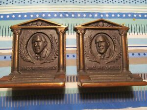 Bradley And Hubbard Bookends Of James Whitcomb Riley The Hoosier Poet