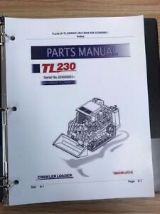 Takeuchi Tl230 Crawler Loader Parts Manual S n 223000001 And Up