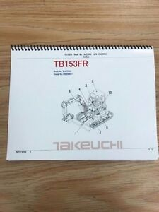 Takeuchi Tb153fr Parts Manual S n 15820004 Free Priority Shipping