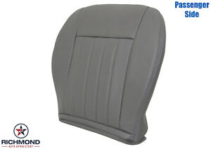 2005 2007 Jeep Liberty Limited Passenger Side Bottom Leather Seat Cover Gray