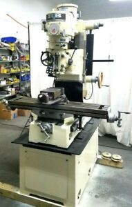 Rb1 Milling Machine 42 Inch Table Mill Miller 2hp Variable Speed Power Head